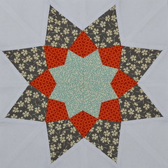 Block for yespositively (jenjohnston) Tags: paper quiltblock pieced quiltingbee 3x6bee