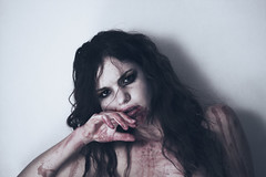 (Sarah Roz) Tags: self blood eyes vampire