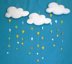 ♥♥♥ Na Sweetfelt só chove chuva colorida... (sweetfelt \ ideias em feltro) Tags: clouds handmade feitoàmão felt nuvens feltro nuages handcraft feutrine faitmain quartodecriança childrenbedroom chambredenfants