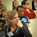 Guilford College's Chelsey Wilson listens during the student break-out work sessions.