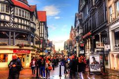 City Centre bustle (Tony Shertila) Tags: camera city england people nikon europe cheshire britain chester hdr mygearandme scottkelbysworldwidephotowalk2012 chesterphotowalk