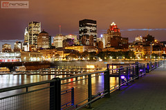 Montreal skyline at night (Nino H) Tags: old canada skyline architecture night port river downtown cityscape montral quebec qubec stlawrence stlaurent nuit fleuve