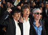 Ronnie Wood, Mick Jagger and Keith Richards of the Rolling Stones 56th BFI London Film Festival - 'The Rolling Stones: Crossfire Hurricane' - Gala Screening - Arrivals London, England