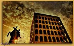 ~ Rome EUR ~ A Perspective ~ (stephgum32807) Tags: italy rome roma italia expression eur creativephotocafe