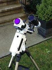 Borg 50 and Mini 50 ready for new mount. (Astronewb2011) Tags: 50mm borg mini 50 achro astronewb smarteq