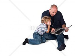 man teaching his son to use laptop (edudrew8877) Tags: family boy cute men childhood computer photography togetherness portable sitting technology laptop web father internet fulllength bald adorable lifestyle son indoors whitebackground parent elearning innocence learning studioshot teaching wirelesstechnology twopeople browsing caucasian midadult midadultman legscrossed casualclothing colorimage surfingthenet boding 67years oneparent elementaryage singlefather usinglaptop informationmedium 3539years elementaryboy