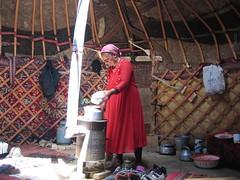 Kyrgz mother in yurk by Karakal lake in Xinjiang, China (mbphillips) Tags: xinjiang 新疆 中国 west 中國 شىنجاڭ fareast asia アジア 아시아 亚洲 亞洲 중국 mbphillips canonixus400 lake 호수 湖 lago geotagged photojournalism photojournalist travel chine china