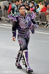 099 Hispanic Day Parade - Bolivia (rivarix) Tags: nyc carnival music festival traditionalcostume caporales traditionaldance cascabeles maledancer hispanicamerican folkloricdance boliviandance spanishheritage partycelebration fifthavenuenewyorkcity boliviaonfifth latinamericanparade centralamericaparade 2012hispanicdayparade
