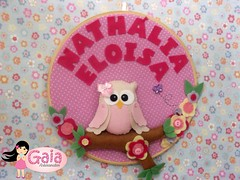 Quadrinho Coruja Rosa (Gaia Artesanatos) Tags: owl coruja decor decorao maternidade colorido delicadeza quadrinho decorado quartodecriana corujinha quadrinhocoruja corujaparaquarto