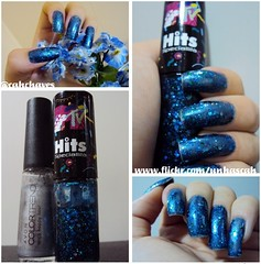 Tera Happy Hour (Avon) com Blue Jazz (Hits) (Camila (unhas)) Tags: blue azul glitter hand nails hits nailpolish avon mo unhas bluenails esmaltes esmalte bluepolish colortrend unhasazuis unhaazul esmalteazul speciallita bluenailspolish