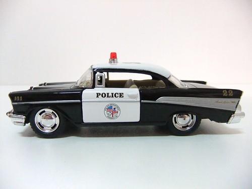 1957 Chevrolet Bel Air Police Kinsmart A Photo On Flickriver