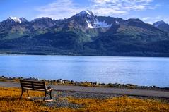 Sunset & Alaska (Lus Henrique Boucault) Tags: travel blue sunset sea vacation usa sunlight snow cold color ice gelo nature water colors fie