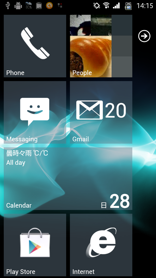 Launcher7 on Xperia SX