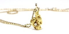 1005. Gold Nugget Pendant Necklace