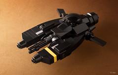 Pkf.85 Falke - the Batwing? (_Tiler) Tags: lego aircraft mini vehicle speeder mak moc falke maschinenkrieger hoovercraft miniscale pkf85falke
