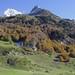 Pic de Socques (2716m) et pic d'Arriel (2823m),  haute vallée d'Ossau, Béarn, Pyrénées Atlantiques, Aquitaine, France.