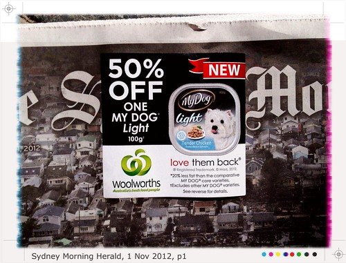 "Ad: ""50% Off One My Dog. Lite"""