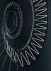 white zigzag (maxelmann) Tags: white black up stairs germany munich münchen down stairway treppe sw schnecke schwarz stufen treppenhaus geländer hoch weis treppengeländer zickzack treppenstufen handlauf runter treppenauge maxelmann