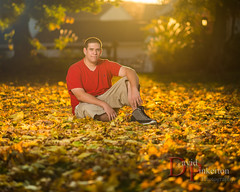 N.N 2013 (David Pinkerton) Tags: autumn portrait male leaves foliage flare sb800 seniorportrait strobist singhrayvarind radiopopperjrx nikkor85mmf14g