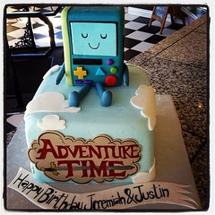 #adventuretime #adventure #time #bmo #game #clouds #cake #amazing (Royalty_Cakes) Tags: birthday ca city red sky brown black game art cakes apple smile cake clouds work square logo happy tv video team aqua a