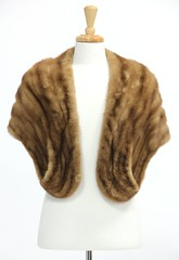 L29. Vintage Pale Brown Mink Stole