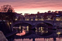 Sunset @ Rome (Rob_el_dur) Tags: sunset pope vatican rome roma pantheon vaticano angels cupola tevere lungotevere angelo