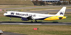 Monarch A321 G-OZBI (ray_finkle) Tags: atc airport birmingham aircraft aviation air landing monarch airbus airports airlines birminghamuk a321 bhx