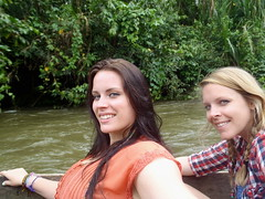 River Queens (The Travelin Chicks) Tags: trip travel friends vacation southamerica nature water smile sisters river ecuador rainforest chelsea culture siblings canoe adventure backpacking jungle blonde tropical bracelets braids traveling canoeing brunette amigas backpacker travelers bestfriends braid traveler kinsey hairwrap backpackers besties hermanas puyo traveladventure travelinchucks chelseaosborn kinseyosborn travelinchicks