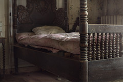 I fear the darkness  ( explore ) (andre govia.) Tags: house buildings bed bedroom room ghost best creepy urbanexploration manor andregovia