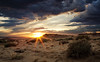 New Mexico Sunset I (Kathy Froilan) Tags: canoneos5dmarkii canonef24105mmf4lisusm desert sunset sky clouds sand brush flare rugged windy dry rocky soe tcfwinner thechallengefactory tphofweek187 thepinnaclehof challengeyouwinner cyunanimous