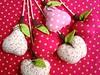 Frutas de tecido. (Dolce Panno) Tags: frutas de patchwork decoração maçã tecido móbile pêra frutasdetecido frutasdepatchwork dolcepanno cristinaragazini
