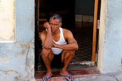 Cuba: sitting on door step (VJ Vee) Tags: life street old people architecture living parts havana cuba habana havanna kuba
