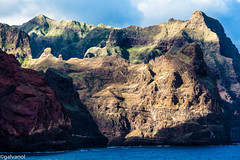 Steep Coast (galvanol (away for some time)) Tags: africa mountain nature canon island coast seaside shoreline atlantic coastline atlanticocean caboverde capeverde santoantao kapverden santoanto canonef70200mmf4lisusm