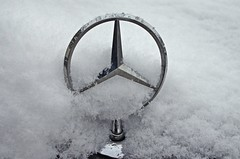 frozen STAR (leszee) Tags: winter snow macro cars car season star mercedes benz three frozen pentax mercedesbenz supercar silverstar supercars pointed gottliebdaimler pentaxdslr winterseason karlbenz threepointedstar frozenstar worldcars daimlerbenzag daimlerag daimlermotorengesellschaft pentaxk5