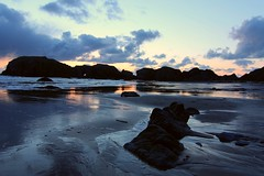 Bandon Beach (Cole Chase Photography) Tags: sunset beach oregon oregoncoast bandon bandonoregon pacificpacific oceanwet sandcanont3i