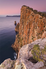 Cape Huay (hillsee) Tags: pink dawn cliffs tasmania tasmanpeninsular