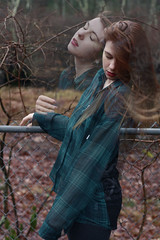 (amandaarns) Tags: autumn winter selfportrait amanda photoshop self hair de lace doubleexposure flannel teenager arns