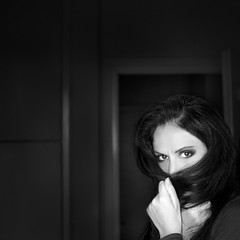 hidden (part deux) (Julia-Anna Gospodarou) Tags: portrait bw selfportrait monochrome square blackwhite naturallight nikon50mmf14g juliaannagospodarou