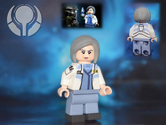 LEGO Halo 4 : Doctor Catherine Halsey (MGF Customs/Reviews) Tags: war lego dr infinity chief 4 halo games master figure requiem custom ops spartan the halsey cortana unsc forerunners didact prometheans