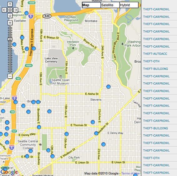 January Crime Maps Where Crime Happened On Capitol Hill