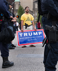 Trump RNC 2016 (Matt Shiffler Photography) Tags: cleveland clevelandskyline rnc rncincle republicannationalconvention 2016 republican government trump donald donaldtrump hillaryclinton ohio ohiornc peace harmony debate tension anger peaceful innocence racial police veteran demonstrate argue protest protester clevelandprotester