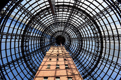 Melbourne Central (pedro smithson) Tags: melbourne australia central shopping oceanica oceania travel pedrosmithson nikon d5100 victoria dome glass tower brick architecture centre lookup