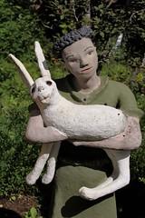 IMG_0116 (www.ilkkajukarainen.fi) Tags: sheep girl statue park parikkala ite kaakko kansantaide raw art folk outsider itä raja suomi finland europa imatra scandinavian museum museo musée museumstuff veijorönkkönen tyttö lammas korvat syli