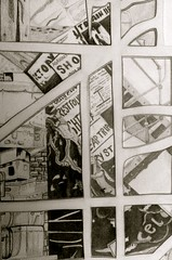 IMG_4609 (artistic era) Tags: blackandwhite architecture lasercuts drawing tonal shading collage collegework work art artistic myartwork