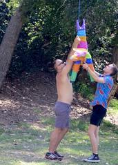 IMG_6916 (danimaniacs) Tags: party griffithpark hot sexy man guy shirtless hunk pinata colorful fun