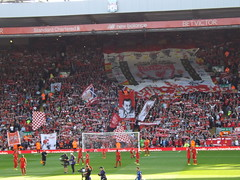 The Kop (lcfcian1) Tags: liverpool fc leicester city anfield football sport merseyside epl bpl premier league liverpoolfc leicestercity liverpoolvleicester liverpoolvleicestercity lfc lcfc kop flags scarves