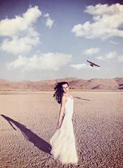 Dry Lake (Alyssa Mort) Tags: alyssamort selfportrait portrait hawk dreamy drylake girl conceptual desert surreal surrealism shadows bookcover outdoor nature
