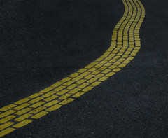 yellow brick road (dotintime) Tags: yellow brick road pavement paint design whimsy fun play wave waver wiggle sway twist turn dotintime meganlane