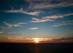Portland Bill Sunset (Sarah Marston) Tags: sea dorset portlandbill clouds sony alpha a65 august 2016
