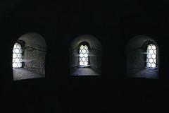 Kapellenfenster - Oratory Windows (Regina_Hoer) Tags: threeofakind flickrfriday windows fenster church abbey kloster thringen thuringia vessra kirchenruine photography reginahoer sigma sd10 romanisch romanic